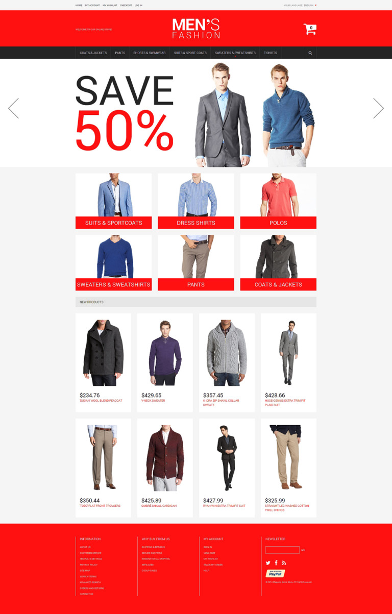 Men's Corporate Fashion Magento Theme New Screenshots BIG