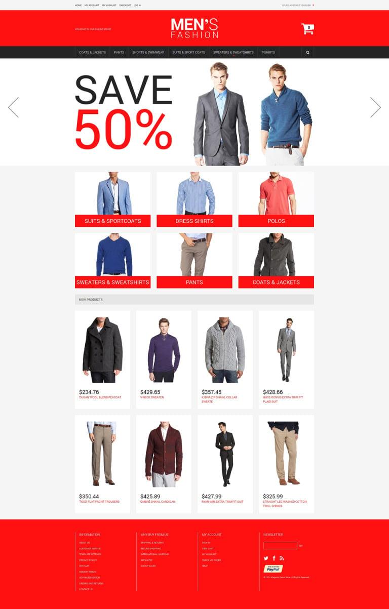 Men's Corporate Fashion Magento Theme New Screenshots BIG