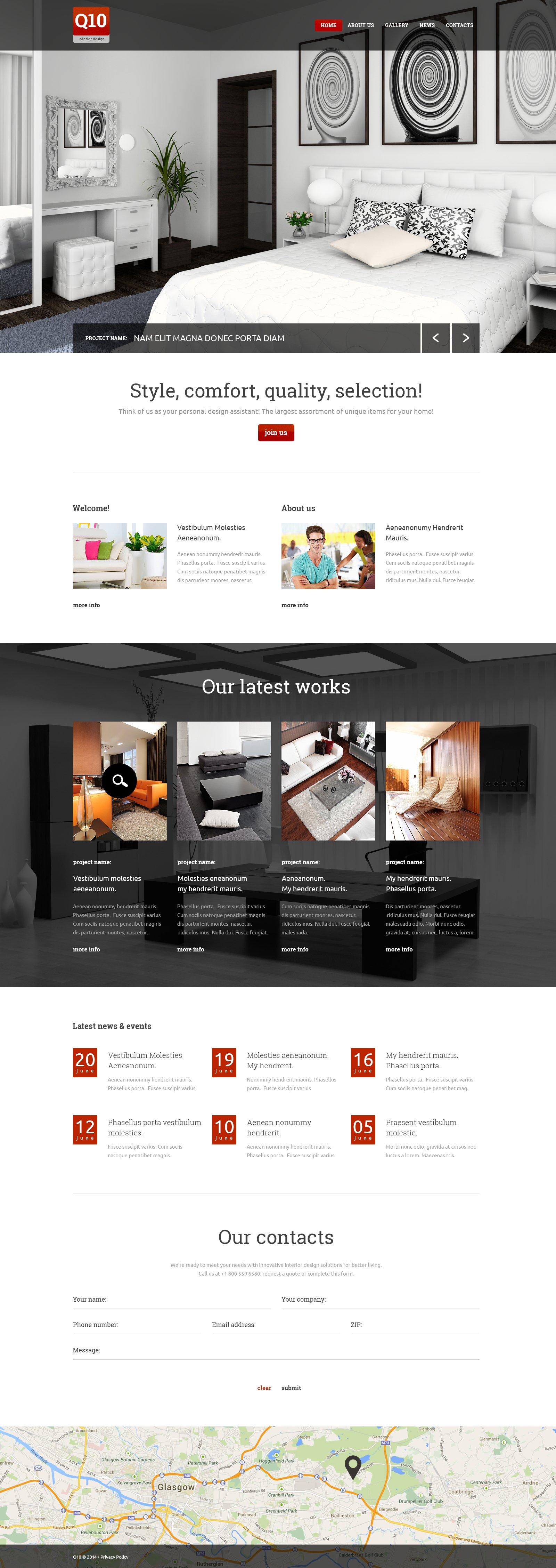 Modèle Web Bootstrap pour site de design intérieur #49532 - screenshot