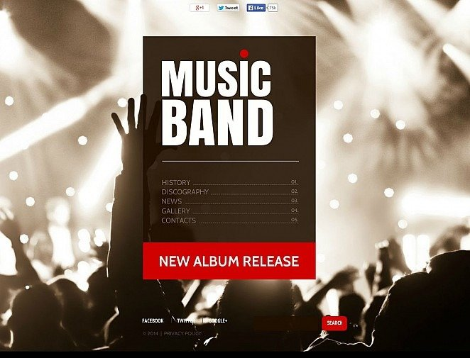 Music Band Flash CMS Template New Screenshots BIG