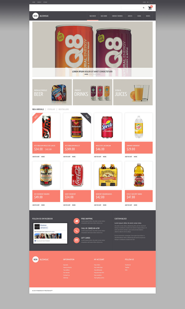 NonAlcoholic Drinks PrestaShop Theme New Screenshots BIG