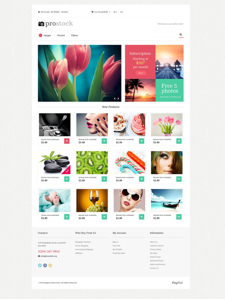 Online Portfolio Magento Theme New Screenshots BIG
