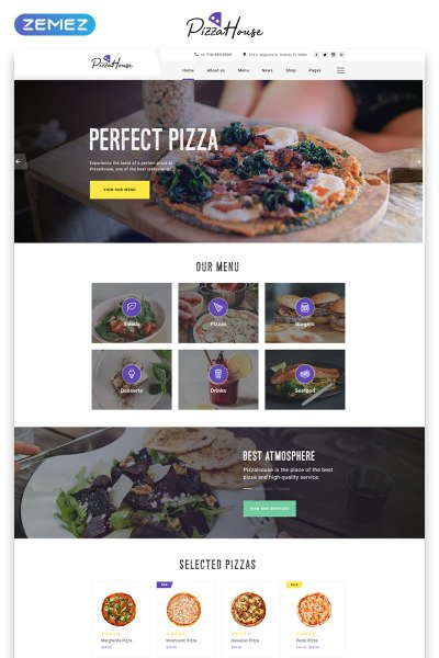 Pizza House Multipage HTML Template Web №49531 #49531