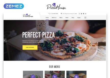 Pizza House Multipage HTML template