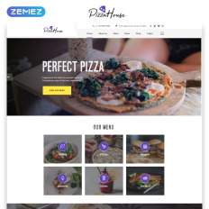 Pizza website templates pizza bootstrap website template pronofoot35fo Images