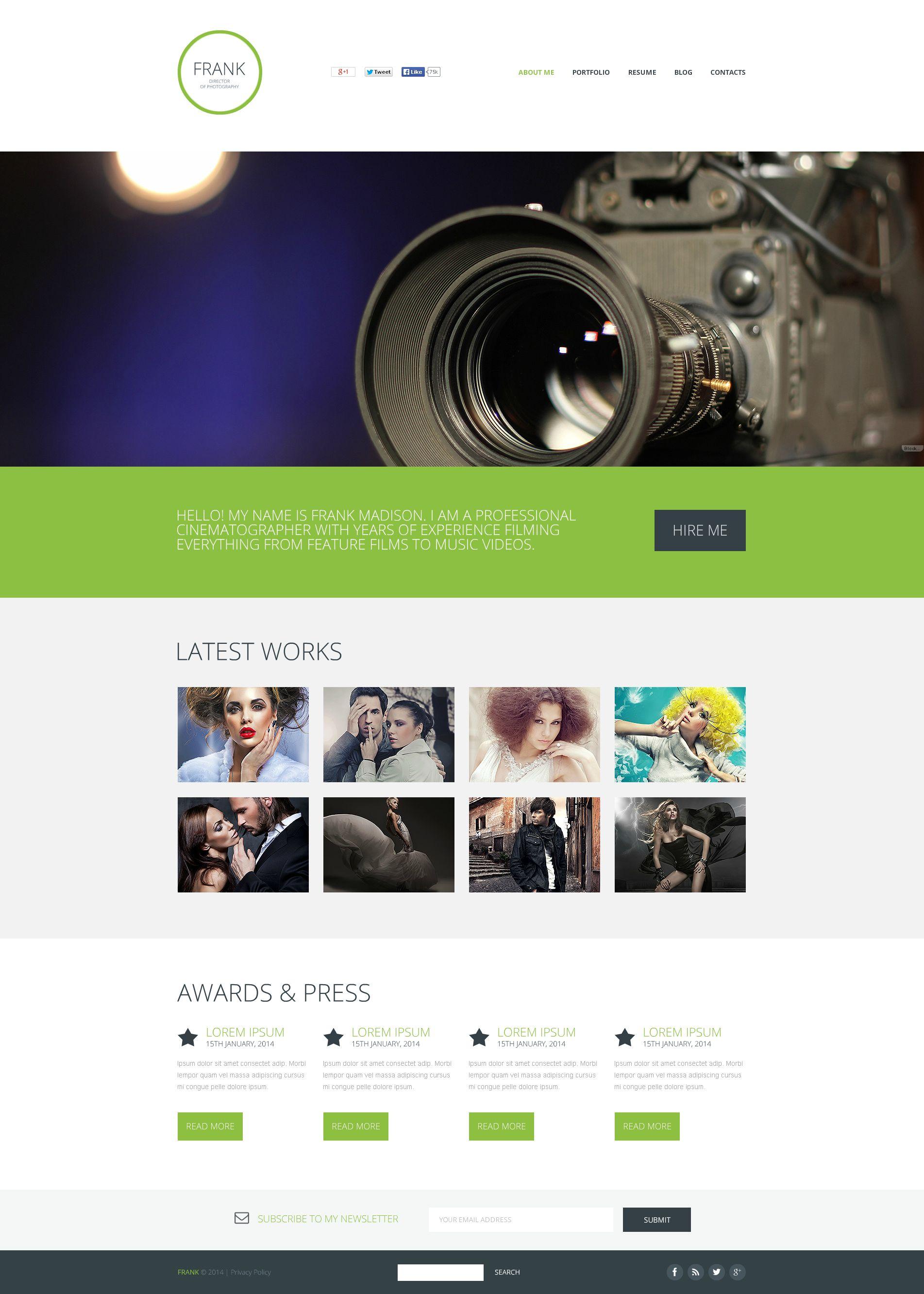 Encantador Plantillas De Blogger Para Fotógrafos Foto - Ejemplo De ...