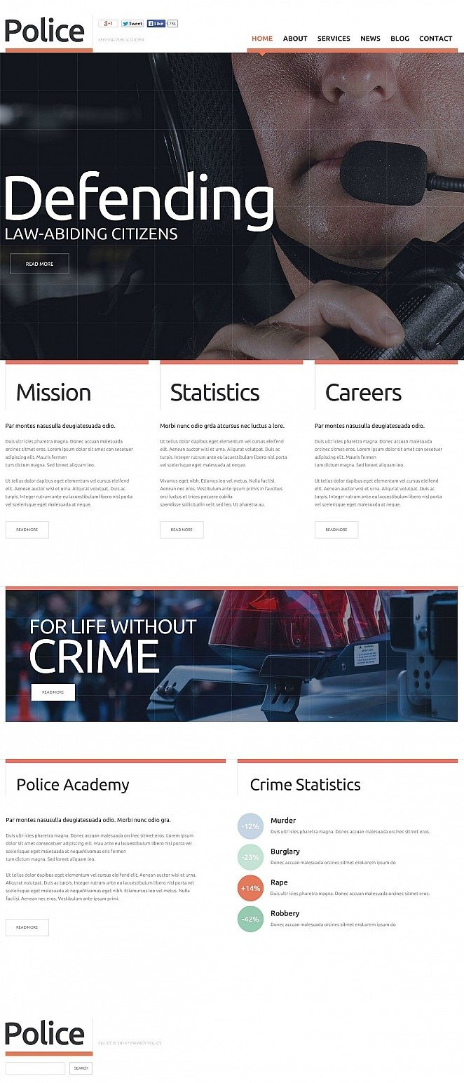 Police Flash CMS Template New Screenshots BIG