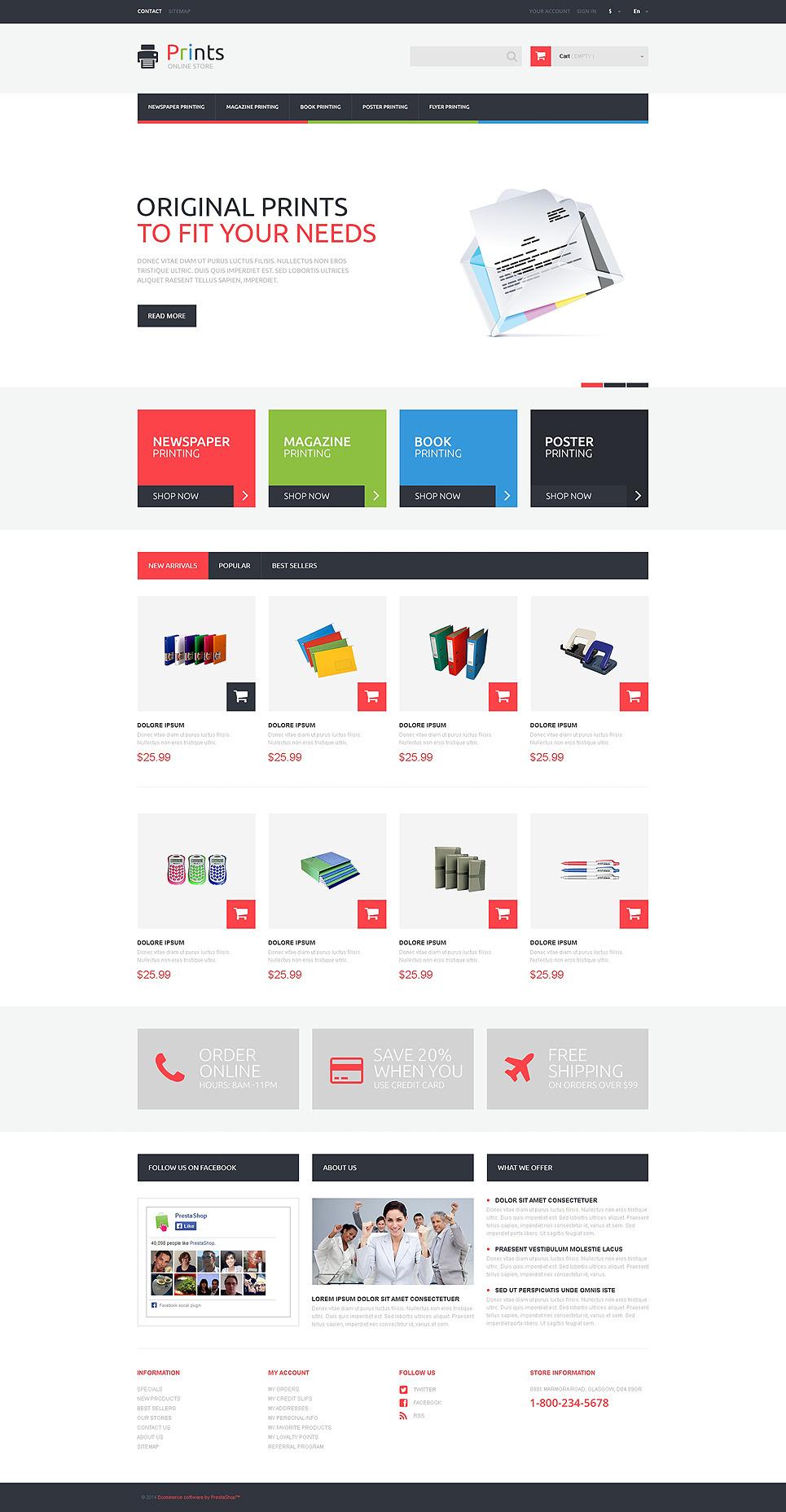Print Store PrestaShop Theme New Screenshots BIG