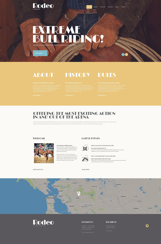 """Refined Rodeo Club"" Responsive WordPress thema №49546 - screenshot"