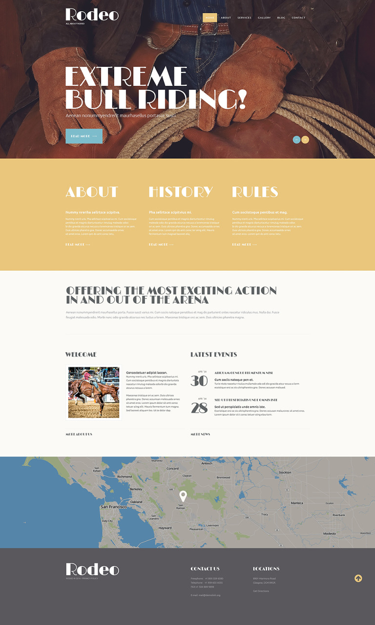 Refined Rodeo Club WordPress Theme New Screenshots BIG