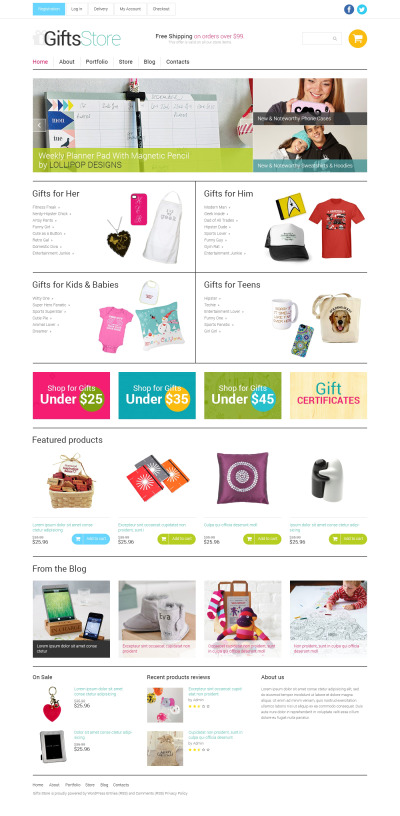 Gifts Store Responsive WooCommerce Teması