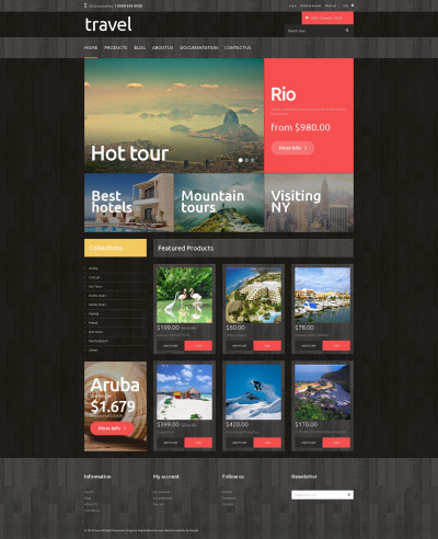 Travel Agency Responsive Shopify Thema