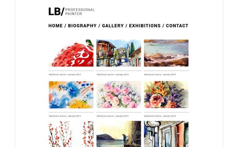 Website Vorlage #49560 für Künstler-Portfolio
