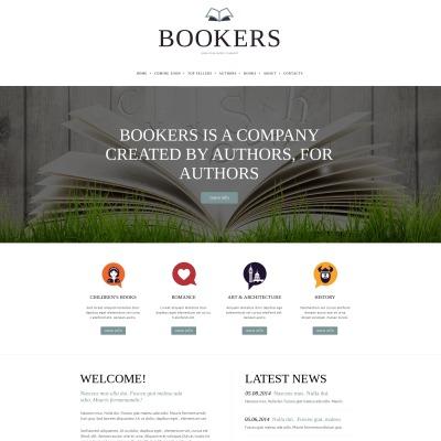 Responsywny szablon strony www #49562 na temat: wydawnictwo