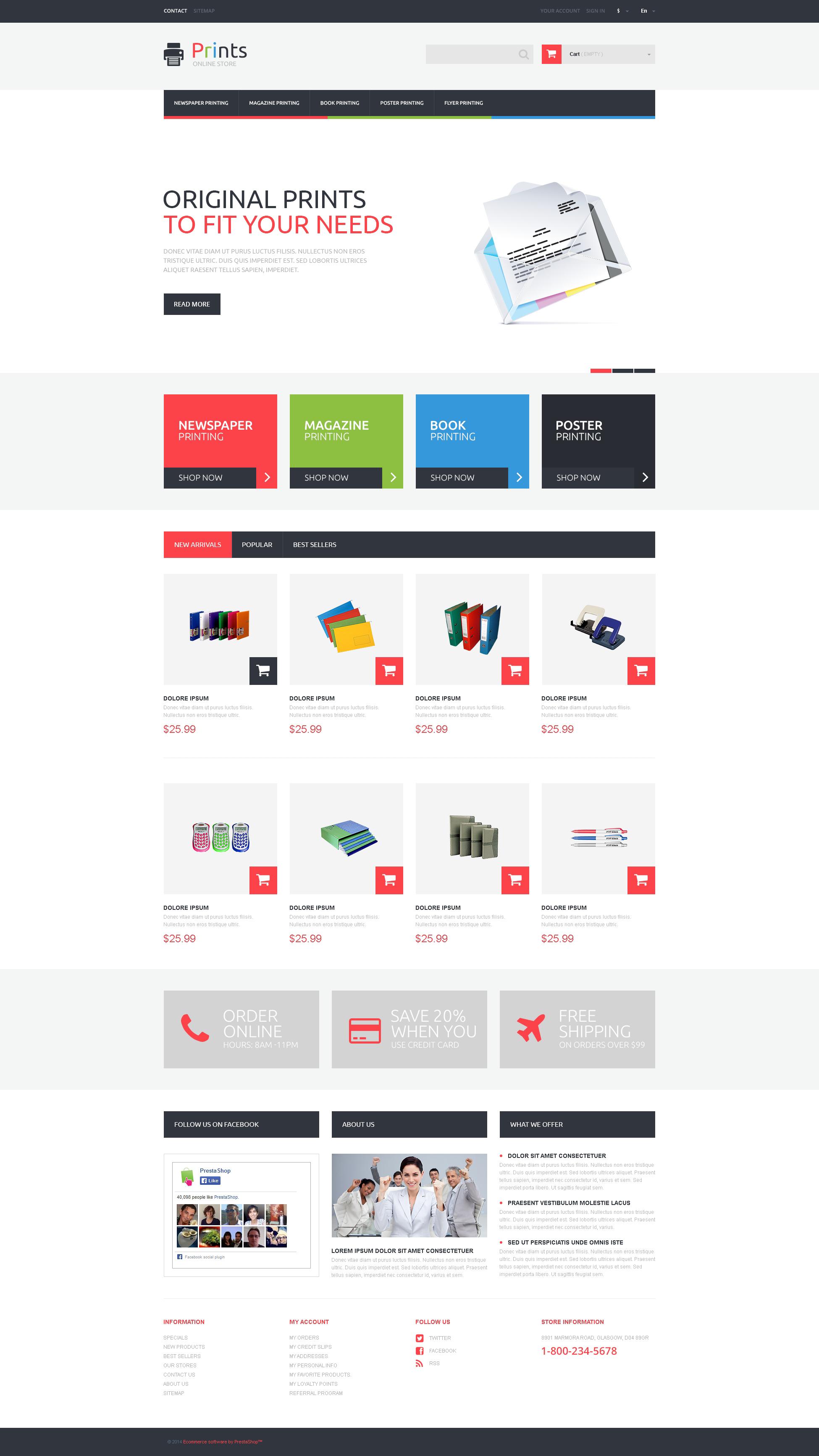 """Responzivní PrestaShop motiv """"Print Store"""" #49589"""