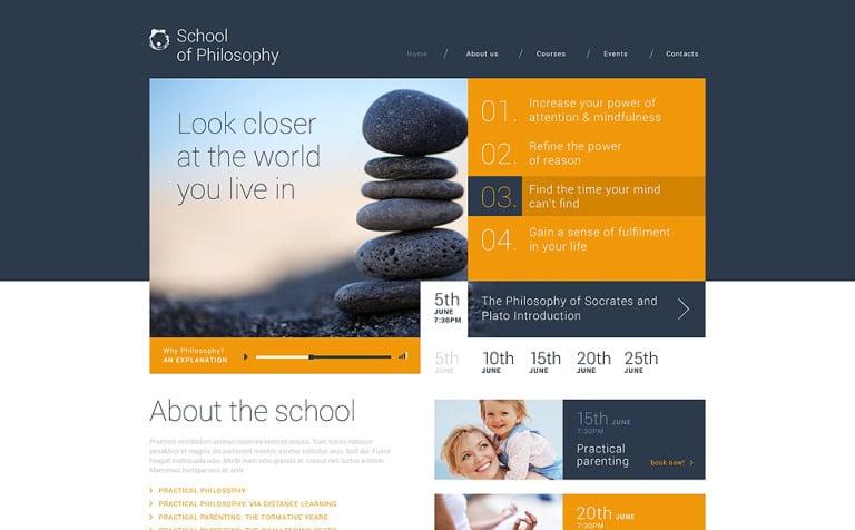 School of Philosophy WordPress Theme