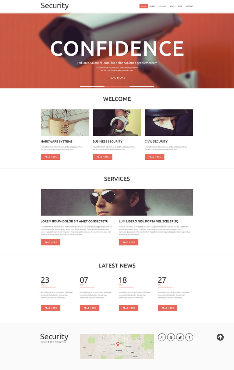 Security Services Joomla Template New Screenshots BIG
