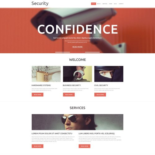 Security - Joomla! Template based on Bootstrap
