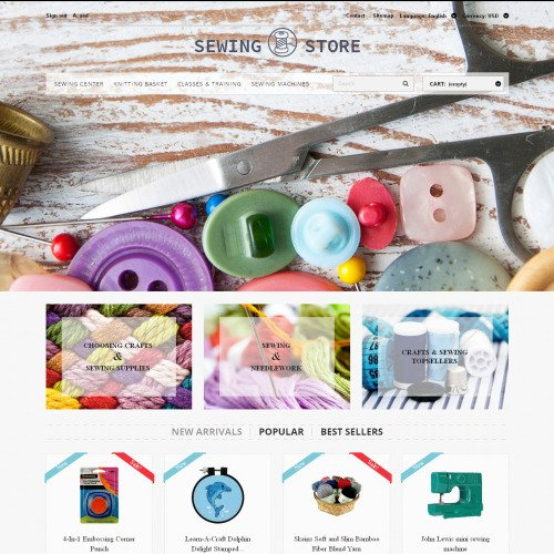 Sewing Store - PrestaShop Template based on Bootstrap