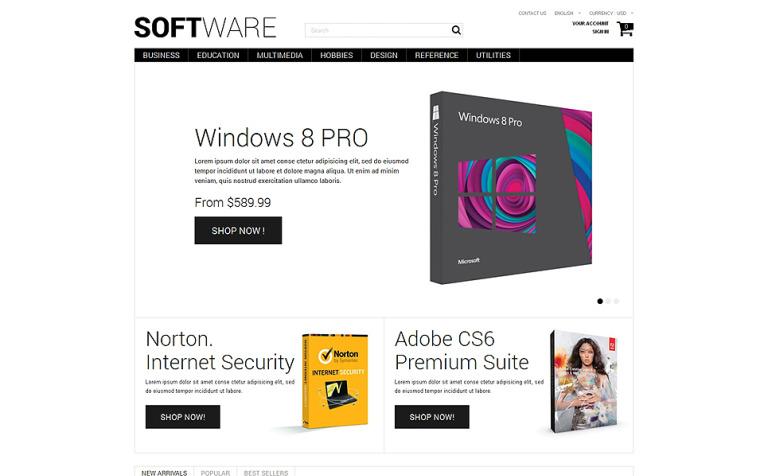 Software Shopping PrestaShop Theme