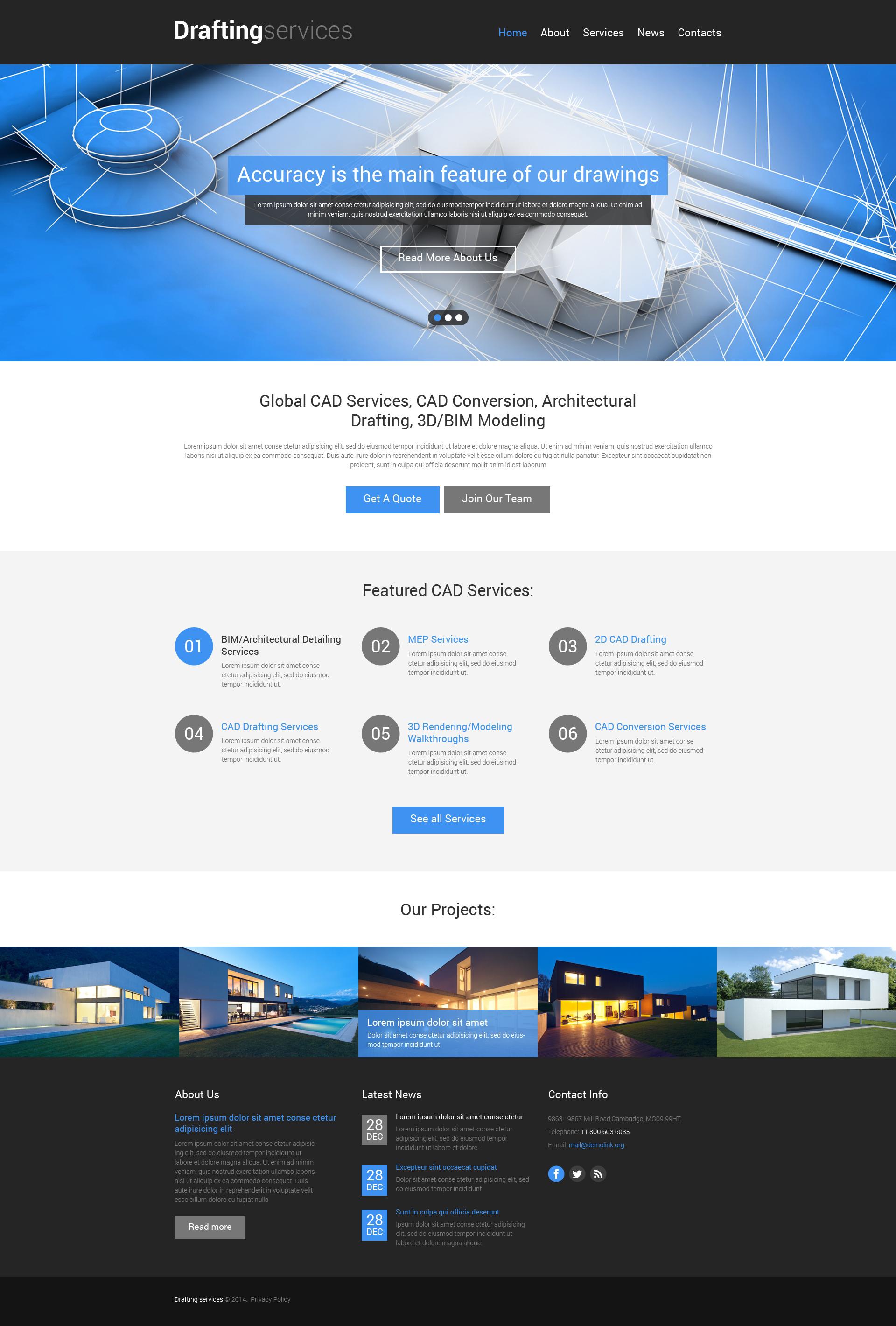 Template Siti Web Responsive #49516 per Un Sito di Progettazione Architettonica