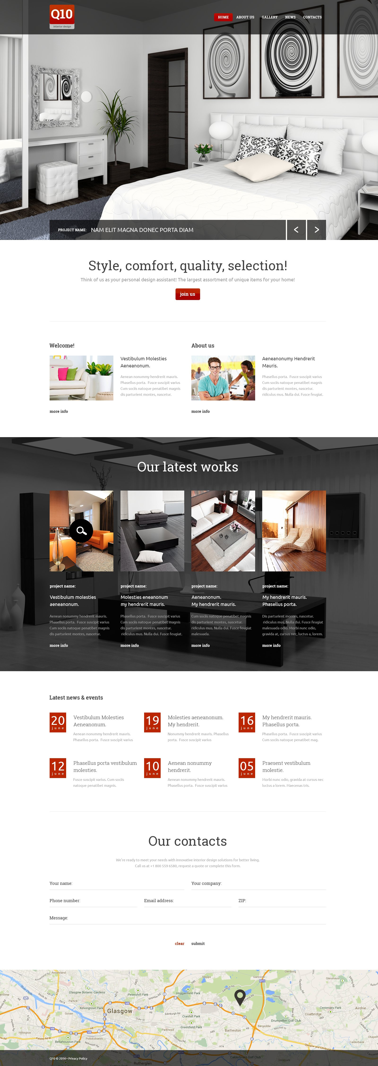 Template Web Bootstrap para Sites de Design Interior №49532 - screenshot