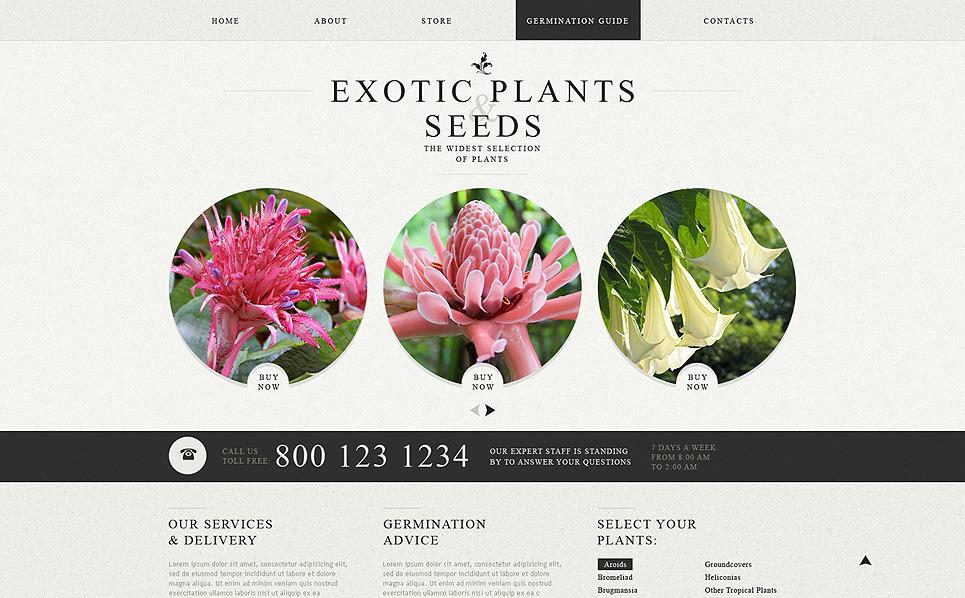Template Web Flexível para Sites de Designs de Jardim №49564 New Screenshots BIG
