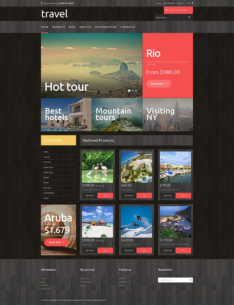 Travel Agency Responsive Shopify Theme New Screenshots BIG