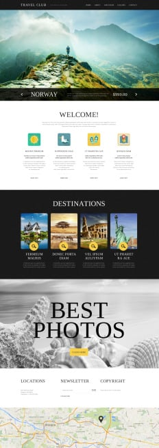 website templates for travel agency