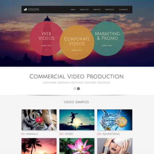 Vision - Website Template based on Bootstrap