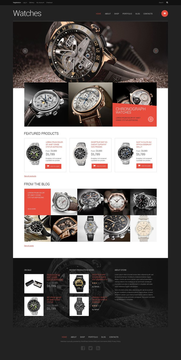 Watches Responsive WooCommerce Theme New Screenshots BIG