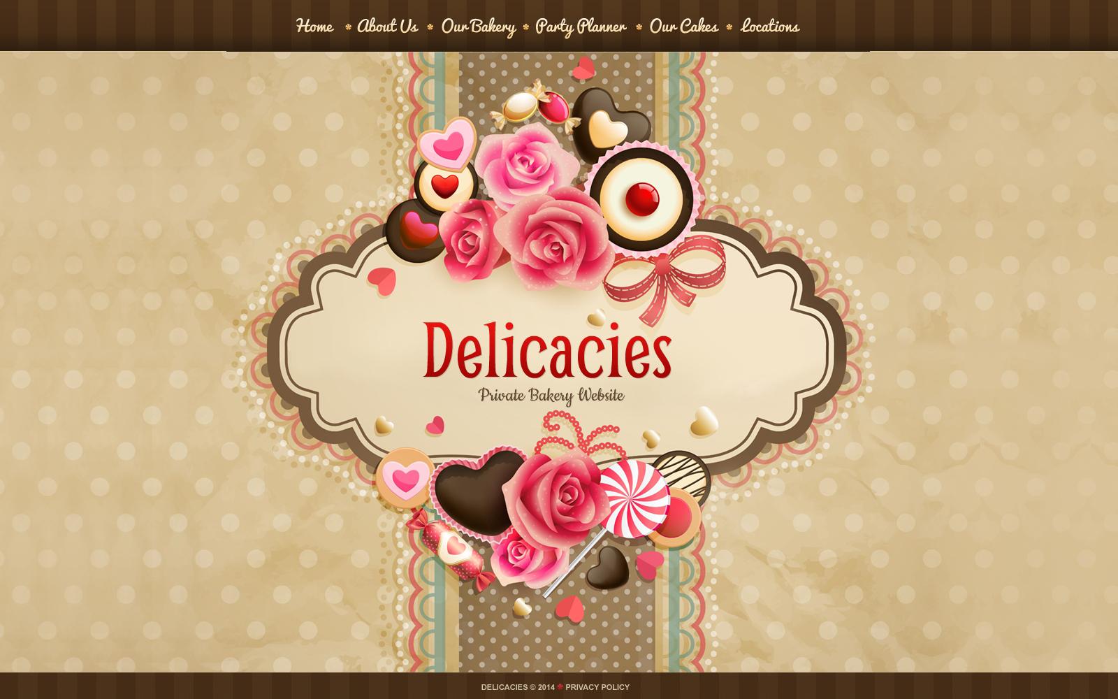Website Vorlage für Süßwarengeschäft #49505