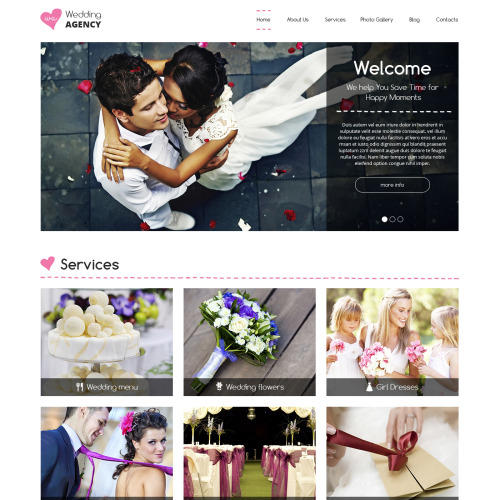 Wedding Agency - HTML5 Drupal Template