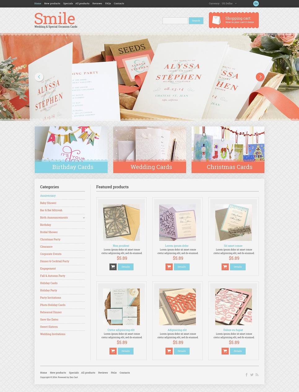 Wedding Shop PSD Template New Screenshots BIG