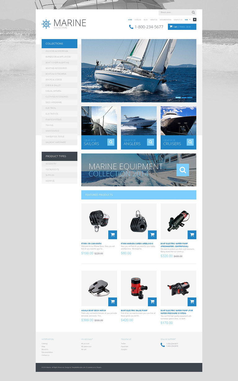 Yachting Responsive Shopify Theme New Screenshots BIG