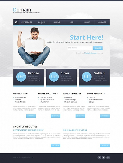 ADOBE Photoshop Template 49600 Home Page Screenshot