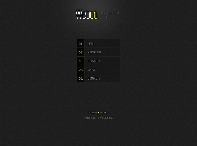 Minimal Black and Yellow Web Template for Design Studios - image