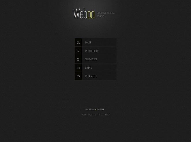 Luxusní Moto CMS HTML šablona na téma Designové studio New Screenshots BIG