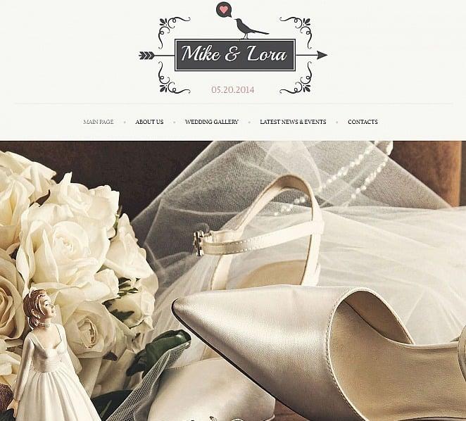 Luxusní Moto CMS HTML šablona na téma Svatební album New Screenshots BIG