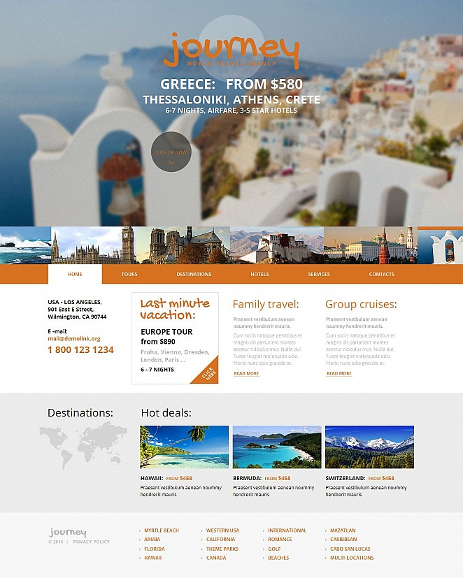 Travel Website Design with a Large Photo Gallery - image