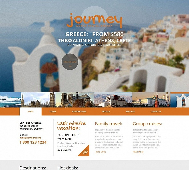 Template Moto CMS HTML para Sites de Agencia de Viagens №49606 New Screenshots BIG