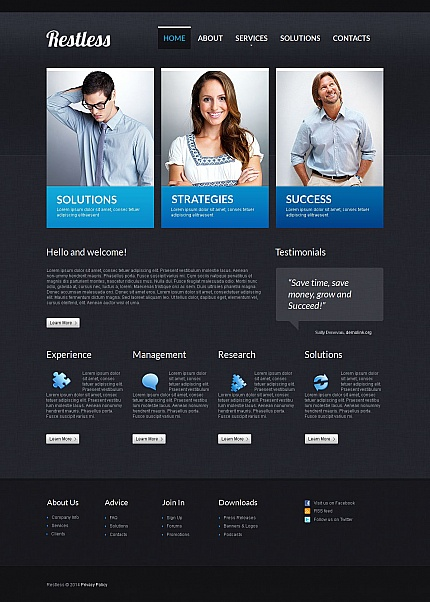 ADOBE Photoshop Template 49608 Home Page Screenshot