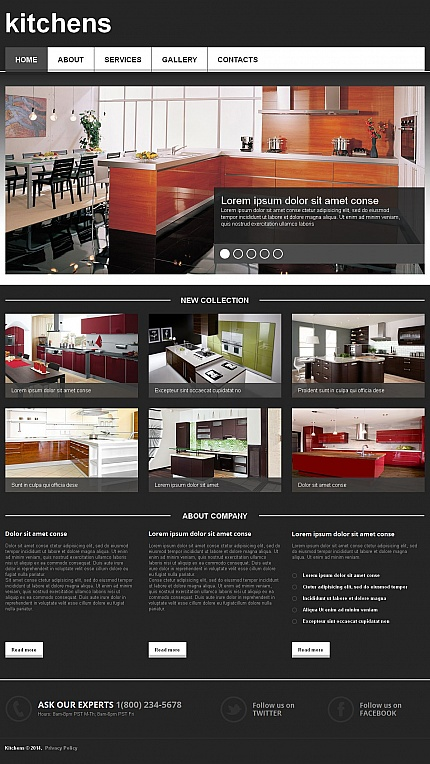 ADOBE Photoshop Template 49610 Home Page Screenshot