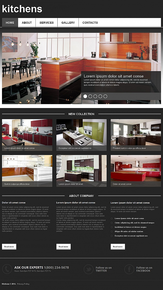Black Web Template for Interior Designers and Furniture Firms - image