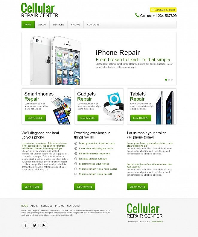 Cellular Repair Website Template with CMS - image