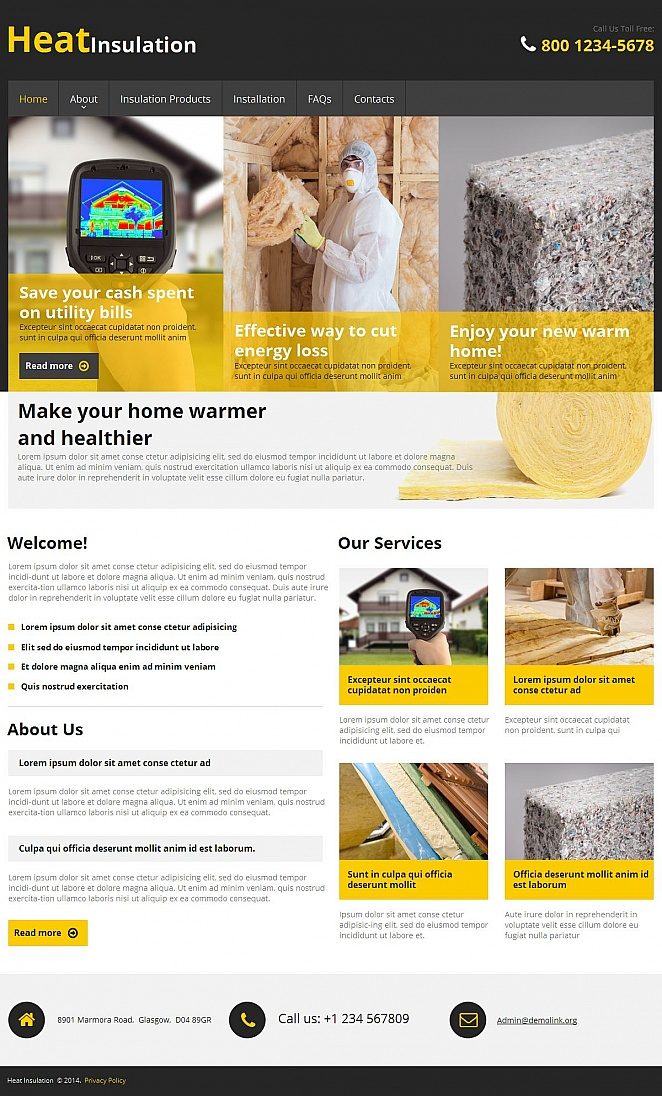 Thermal Insulation Website Template - image