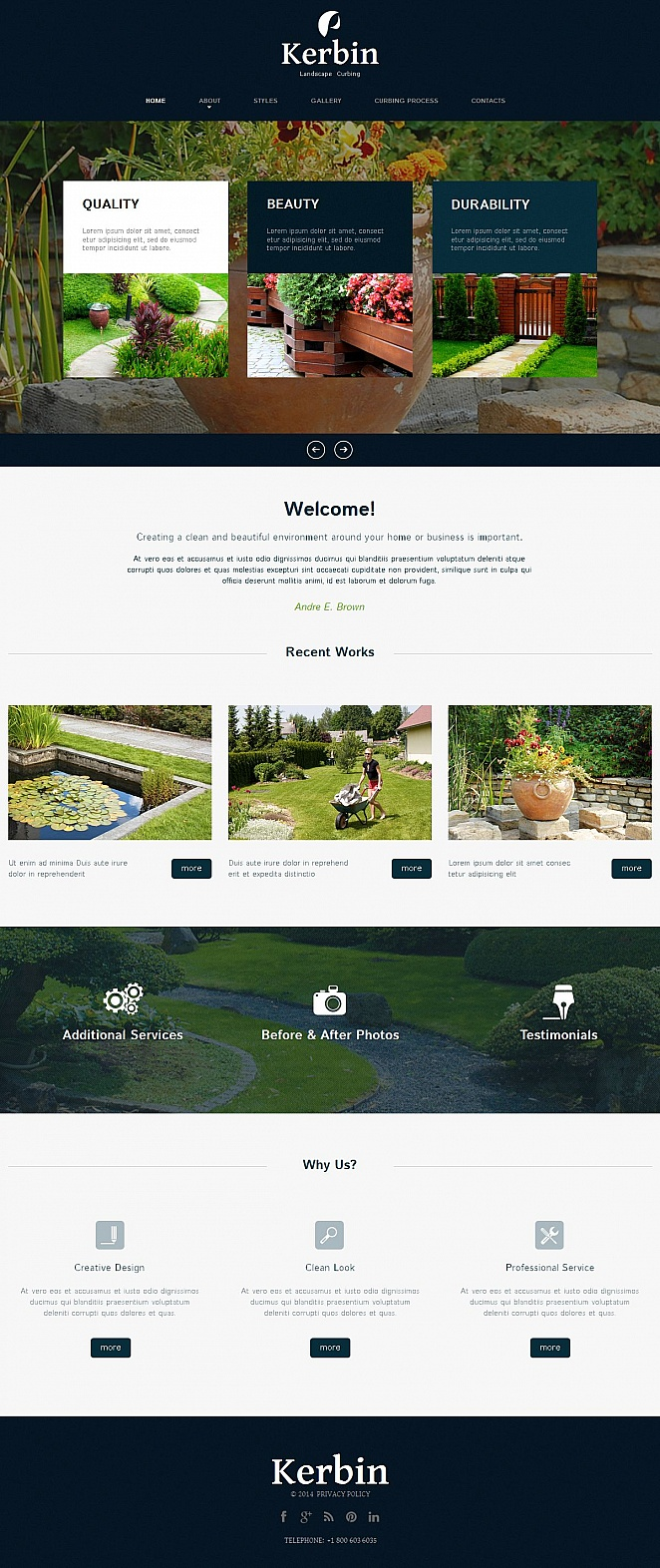 Landscape Curbing Website Template - image