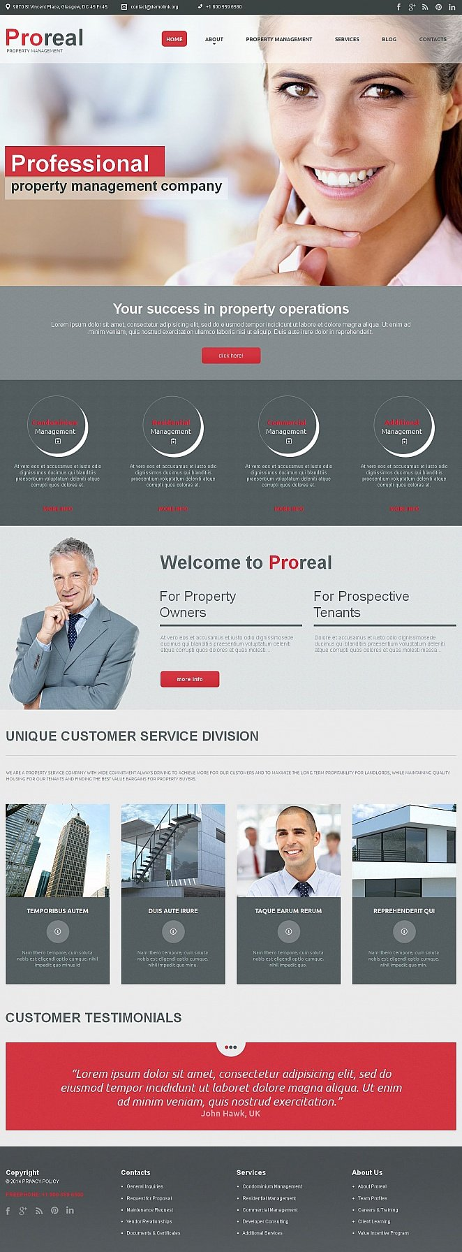 Property Management Website Template - image