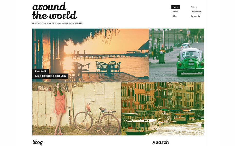 Reszponzív Utazás WordPress sablon New Screenshots BIG