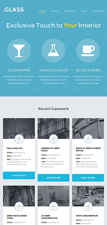 WordPress Theme/Template 49623 Main Page Screenshot